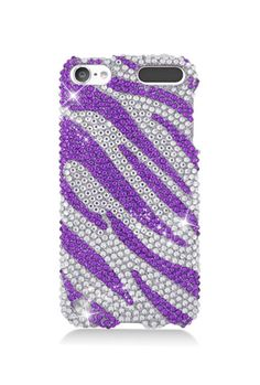 iPod Touch Generation Case, iPod Touch Generation Case, by Insten Zebra Rhinestone Diamond Bling Hard Snap-in Case Cover For Apple iPod Touch Gen, Purple/Silver, Multi Ipod 5 Cases, Ipod Touch Cases, Cute Phone Cases, Iphone Phone Cases, Iphone 6, Purple Zebra, Ipod Touch 6th Generation, Cute Cases, Ipad Case