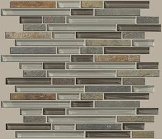 """Glass/ Ceramic Tile """"Mixed Up Random Linear Mosaic Slate"""" - color Pikes Peak - by Shaw Floors"""