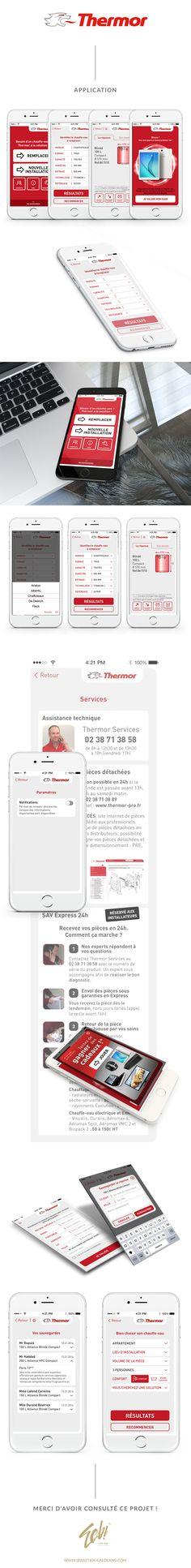 Thermor avait déjà une application iPhone mais avec cette refonte, nous avons revu le style, la charte et sont somme allé bien plus loin dans la navigation, l'ergonomie et la facilité d'utilisation.  http://www.sebastien-galdeano.com/portfolio/2-Mobile/27-Application_iPhone/470-Thermor.html