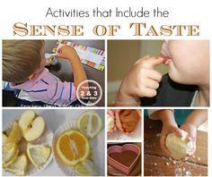 Kids Activities Using the Sense of Taste
