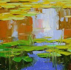 Vahe Yeremyan Waterlilies Original oil Paintin... Oil painting