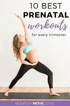 Have a fit pregnancy with these 10 best prenatal workouts! They'll help you stay fit during pregnancy with these safe prenatal exercises to keep you strong for delivery. Come see how easy it is to be a fit mom! Prenatal Workout, Prenatal Yoga, Pregnancy Health, Pregnancy Tips, Fit Pregnancy Workouts, First Trimester Pregnancy Workout, Pregnancy Pilates, Pregnancy Fitness, Early Pregnancy