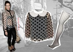 Polka dots get a sultry twist in sheer fabrics. Mischa Barton shows us how!    http://www.venusbuzz.com/archives/16391/fashion-tips-for-your-5-oh-so-right-now-items-pt-1/