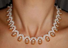 Free pattern for necklace Love Me Tender Click on link to get pattern - http://beadsmagic.com/?p=6924