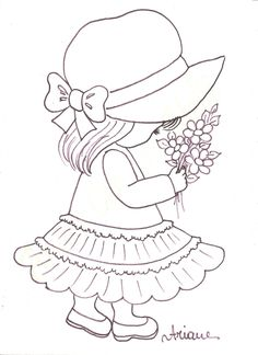 Border Embroidery Designs, Embroidery Flowers Pattern, Embroidery Transfers, Embroidery Patterns Free, Embroidery Stitches, Hand Embroidery, Sewing Patterns, Preschool Coloring Pages, Colouring Pages
