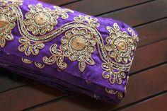 1 YardFloral Design Purple Blue Sequins by ArtsyCraftsyShoppe, $9.50