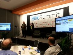 CIO Summit: marc and Jill from Adobe discussing Mobile engagement and seamless process of IT team! CMS, Platform and design responsive design
