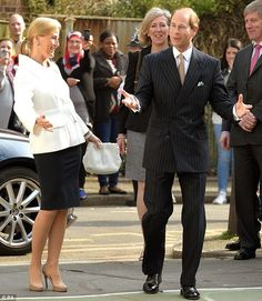 The Earl and Countess of Wessex arrive for a visit to Robert Browning Primary School in Walworth, London