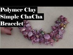 Creating A Simple ChaCha Bracelet with Polymer Clay Beads and more! Polymer Clay Bracelet, Polymer Clay Beads, Resin Tutorial, Metal Clay Jewelry, Polymer Clay Projects, Clay Flowers, Beading Tutorials, Bead Weaving, Turtle Soup