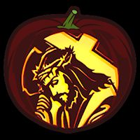 Jesus Carrying The Cross CO - Stoneykins Pumpkin Carving Patterns and Stencils