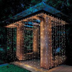 Better Homes & Gardens Outdoor LED Curtain Lights, White