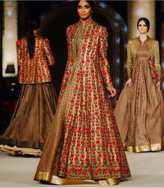 Such beautiful creations by Rohit Bal at Lakme Fashion Week 2016 Lakme Fashion Week, Runway Fashion, Fashion Outfits, Indian Bridal Fashion, Asian Fashion, Pakistani Outfits, Indian Outfits, Choli Dress, Rohit Bal