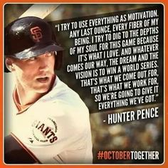 I like baseball, pictures, and gluten free things Giants Addicts Hunter Pence, Bye Bye Baby, 2014 World Series, San Francisco Giants Baseball, My Giants, Take Me Out, Great Team, Chemistry, Encouragement
