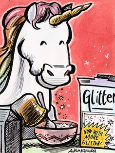 Unicorn eats bowl of glitter - Boing Boing