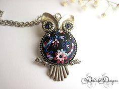 Owl Pendant | by Delline Designs