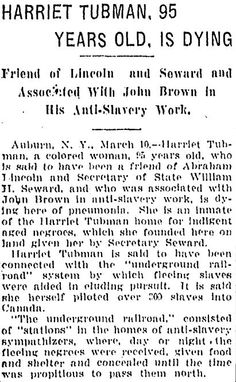 Research paper on harriet tubman