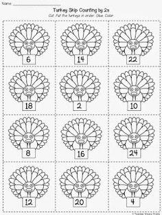 Second Grade With The Teacher Wears Prada: Last Minute Thanksgiving Math Activity (FREE)