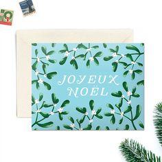 Boxed Christmas Cards, Set of 8,  Joyeux Noel Design, by WoodburyDesignCo on Etsy