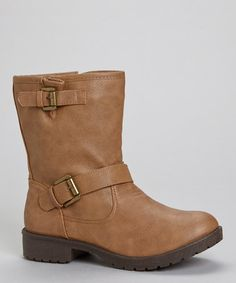 Take a look at this Tan Martina Buckle Boot by PINKY FOOTWEAR on #zulily today!
