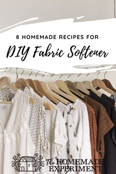 Homemade fabric softeners won't leave your clothes smelling like artificial scents or leave behind that strange chemical softness that dryer sheets do.What homemade fabric softeners will do is make your clothes feel softer than they would if you dried them without some sort of softener and that's enough for me!Here are a few simple ways for how to make homemade fabric softeners that work great and get your clothes cuddly and smelling awesome in no time!
