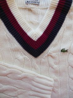Vintage Tennis Sweater worn by boys and girls in the 60's Yes, I had one!