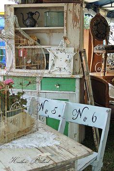 antiques, flea markets. junk sales, garage sales, ebay  - I used to be an antique dealer!