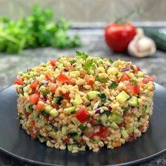 Greek Recipes, Vegan Recipes, Cooking Recipes, Alkaline Foods, Salad Bar, Fried Rice, Salad Recipes, Salads, Food Porn