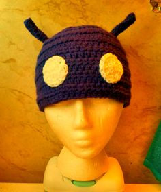 My camera doesn't do the purple color justice! Its very purple! Good for adult Men or Women! #Android #beanie