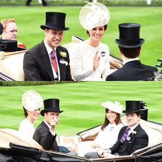 The Duke & Duchess of Cambridge arrive at Day Two of Royal Ascot on June 15, 2016. . #princewilliam #dukeofcambridge #katemiddleton #duchessofcambridge #RoyalAscot