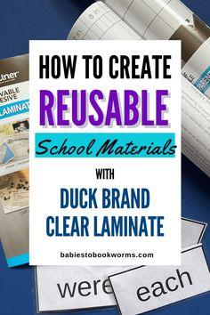 Reusable School Materials | Babies to Bookworms