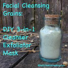 Facial Cleansing Grains: DIY 3-in-1 Cleanser, Exfoliator, & Mask