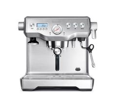 The Breville BES920XL has dual stainless steel boilers and dual Italian pumps for simultaneous espresso extraction and steaming. We keep this in first place of our best espresso machine review list. The espresso boiler, for the espresso shot, is PID temperature controlled, the dual boiler also features an Over Pressure Valve (OPV).