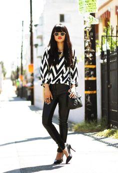 Shop this look on Kaleidoscope (top, pants, pumps, purse, sunglasses)  http://kalei.do/WJ5ggP0aKeQ3Mv8q