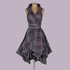 Blonde and Wise Dress in Grey / Purple Tartan Trench Joseph Ribkoff Dresses, Purple Grey, Gray Dress, Trench, Tartan, Designer Dresses, Sofa, Stuff To Buy, Women