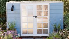 How to make faux French doors: Add a touch of class to your garden shed with fabulous (fake) French doors.