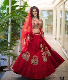 JADE Bride Malika looks Flawless in a Bespoke Scarlet Red Lehenga from the 'Temples of India' collection. Brides email / whatsapp on: jade@jadecouture.com / +919833115000 for an appointment at our exclusive bridal couture studio.