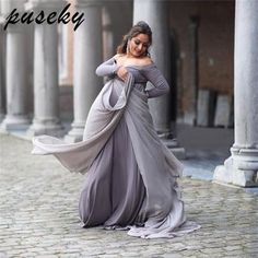 fdf299b0955db Puseky Maternity Photography Props Dresses For Pregnant Women Clothes  Maternity Dresses For Photo Shoot Pregnancy Dresses