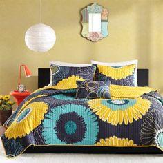 Mizone Iris Floral Quilt Set  found at @JCPenney