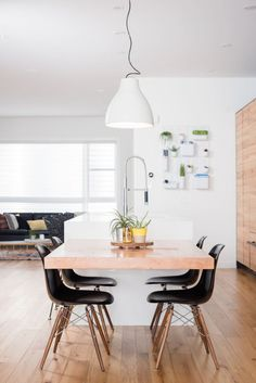 Vitra Eames DSW In Black Featured This Scandi Dining Room