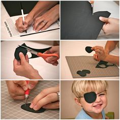 Pirate Party DIY foam eye patches!