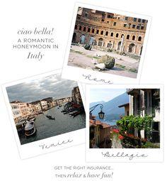Italy Honeymoon Ideas from Perfect Circle