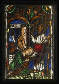 French, first half century and late, Window with one of the miracles of Christ Medieval Stained Glass, Stained Glass Church, Stained Glass Angel, Stained Glass Windows, Tiffany, Grisaille, Fine Art Auctions, Glass Paperweights, Old Master