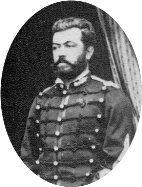 Capitán Santiago Frías del 2° Regimiento de Artillería, primera compañía del Segundo Batallón.