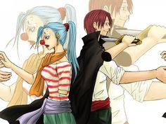 Buggy genderbent and Shanks