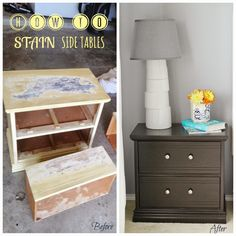 How to stain side table using paint stripper. I used General Finishes Java Gel Stain.