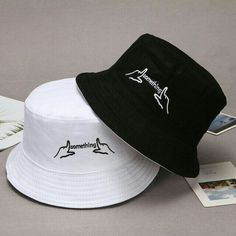 Bucket Hats Women Unisex Couple Hat Doublesided Solid Letter Embroidered Breathable Fisherman Cap Hip Hop Size One Size Color 1 Outfits With Hats, Stylish Outfits, Cool Outfits, Girls Fashion Clothes, Teen Fashion, Fashion Outfits, Bucket Hat Outfit, Stylish Caps, Cute Hats