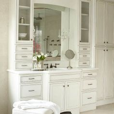 Custom Vanity with 2 Towers and Drawers