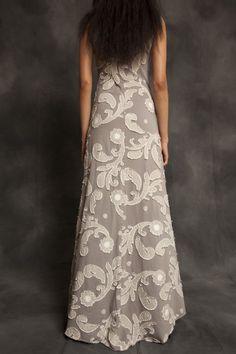 Long Paisley Dress  Alabama Chanin