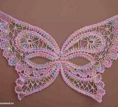 Irish lace, crochet, crochet patterns, clothing and decorations for the house, crocheted. Bobbin Lace Patterns, Crochet Doily Patterns, Irish Crochet, Crochet Lace, Bobbin Lacemaking, Crochet Butterfly, Lace Heart, Point Lace, Lace Jewelry