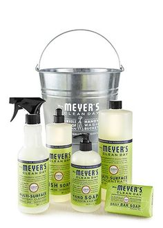 Lemon Verbena Cleaning Gift Bucket - I love to give this as gifts!!